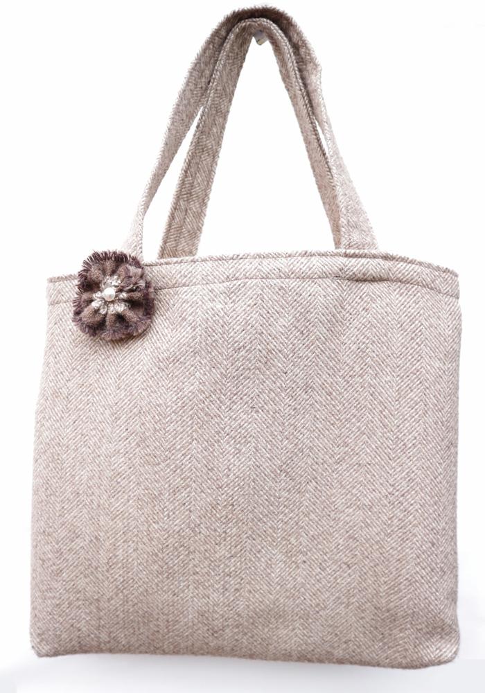 Handmade Herringbone Tweed Bag