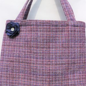 Harris Tweed Bag in heather colour